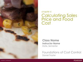 Calculating Sales Price and Food Cost