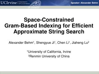 Space-Constrained  Gram-Based Indexing for Efficient Approximate String Search