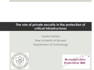 The role of private security in the protection of critical  infrastructures