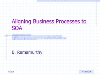 Aligning Business Processes to SOA