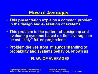 Flaw of Averages