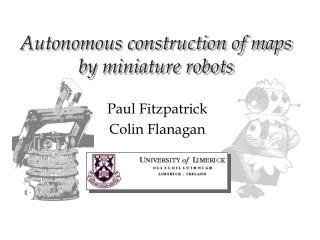 Autonomous construction of maps by miniature robots