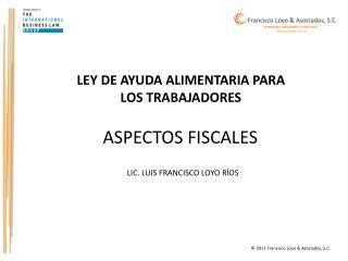LEY DE AYUDA ALIMENTARIA PARA LOS TRABAJADORES