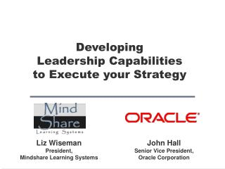 Developing  Leadership Capabilities to Execute your Strategy