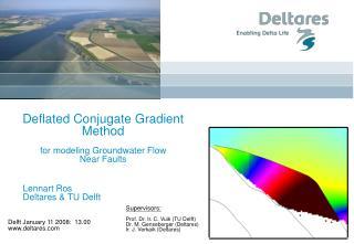 Deflated Conjugate Gradient Method for modeling Groundwater Flow Near Faults