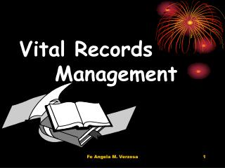 Vital Records     Management