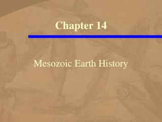 Mesozoic Earth History