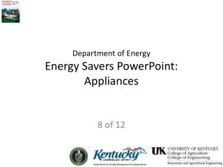 Department of Energy Energy Savers PowerPoint:  Appliances
