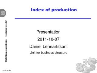 Index of production