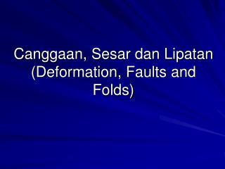 Canggaan, Sesar dan Lipatan (Deformation, Faults and Folds)