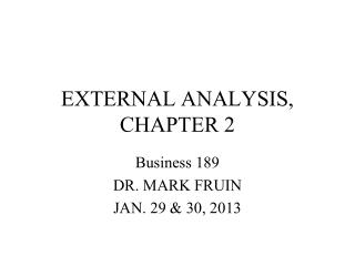 EXTERNAL ANALYSIS, CHAPTER 2