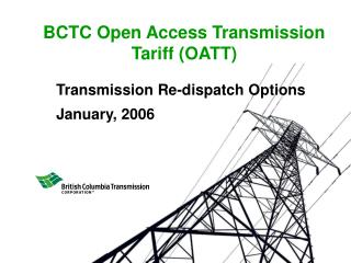 BCTC Open Access Transmission Tariff (OATT)