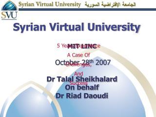Syrian Virtual University