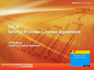 SPLA Service Provider License Agreement