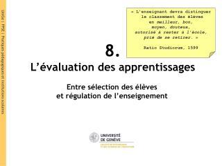8. L��valuation des apprentissages