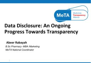 Data Disclosure: An Ongoing Progress Towards Transparency