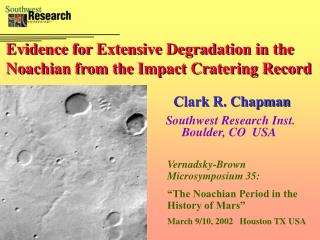 Evidence for Extensive Degradation in the Noachian from the Impact Cratering Record