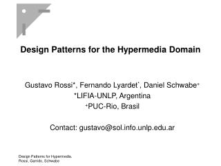 Design Patterns for the Hypermedia Domain