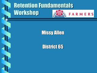 Retention Fundamentals Workshop