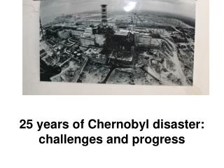 25 years of Chernobyl disaster:  challenges and progress