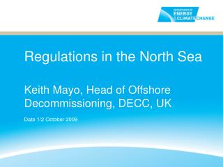 Regulations in the North Sea