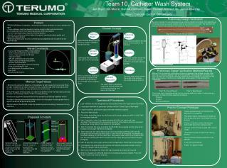 Team 10, Catheter Wash System