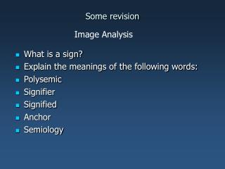 Some revision