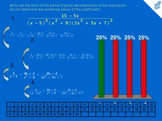 Write out the form of the partial fraction decomposition of the expression. Do not determine the numerical values of th