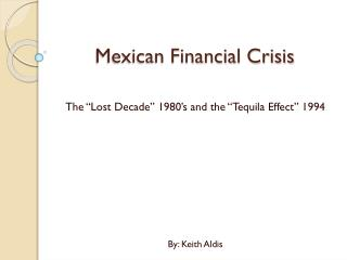 Mexican Financial Crisis