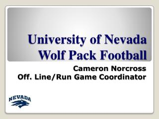 University of Nevada Wolf Pack Football