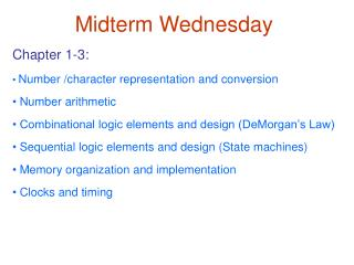 Midterm Wednesday