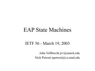 EAP State Machines