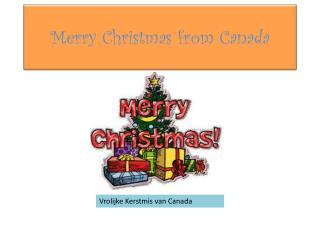 Merry Christmas from Canada