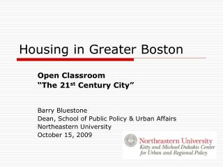 Housing in Greater Boston