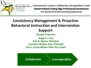 Consistency  Management  & Proactive Behavioral Instruction and Intervention Support