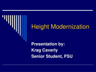 Height Modernization