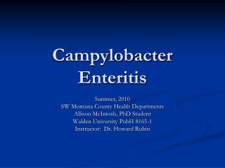 Campylobacter Enteritis