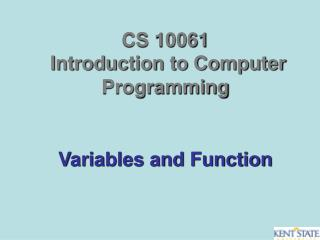 Variables and Function