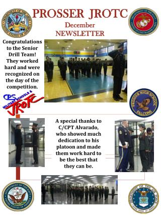 PROSSER  JROTC December NEWSLETTER