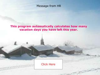 This program automatically calculates how many vacation days you have left this year.
