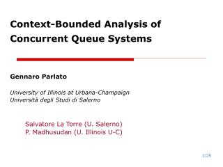Context-Bounded Analysis of Concurrent Queue Systems