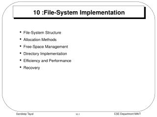 10 :File-System Implementation