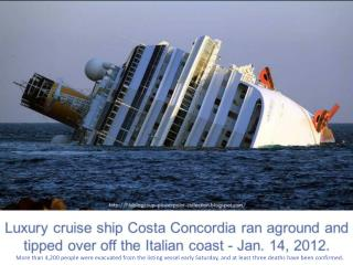 More than 4,200 people were evacuated from the listing vessel early Saturday, and at least three deaths have been confi