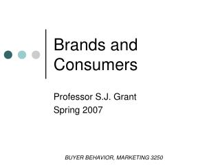 Brands and Consumers