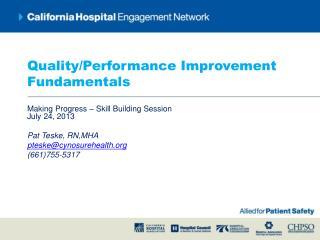 Quality/Performance Improvement Fundamentals