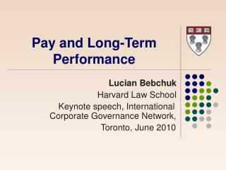 Pay and Long-Term Performance