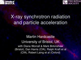 X-ray synchrotron radiation and particle acceleration