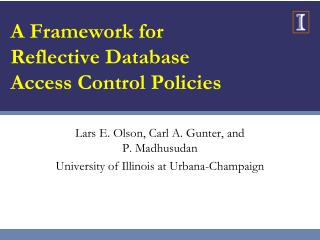 A Framework for Reflective Database Access Control Policies