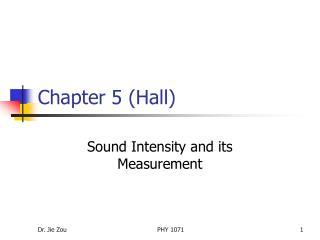Chapter 5 (Hall)