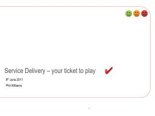 Service Delivery – your ticket to play
